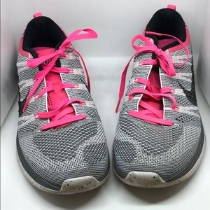 Nike FlyKnit One Athletic Sneakers Pink Gray 9.5